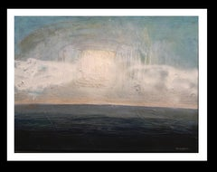 Horitzo al mediterrani. original expressionist acrylic painting