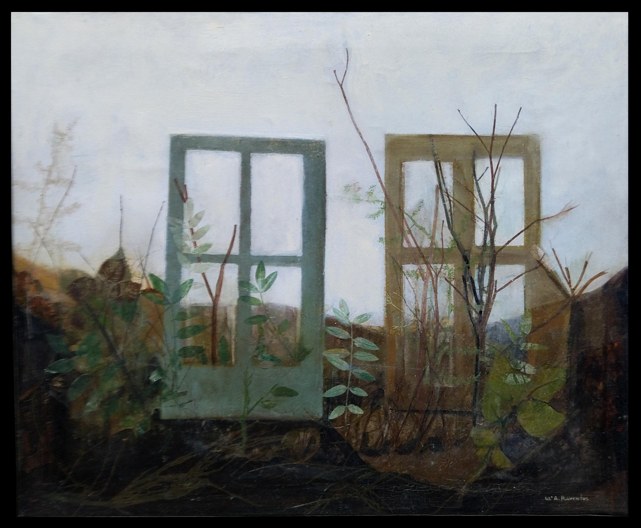 """JARDIN"" original abstract mixed media painting"
