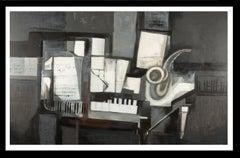 """Jazz"" original expressionist acrylic painting"