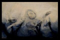 La Santa Espina. original expressionist acrylic painting