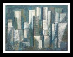 """Manhatan"" original expressionist acrylic canvas painting"