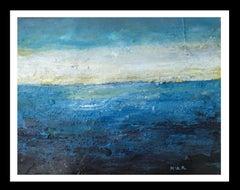 """""""MARINA"""" original abstract mixed media painting"""