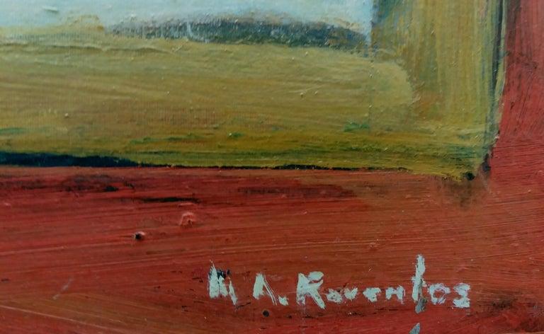 Music original expressionist acrylic painting - Expressionist Painting by Maria Asuncion Raventos