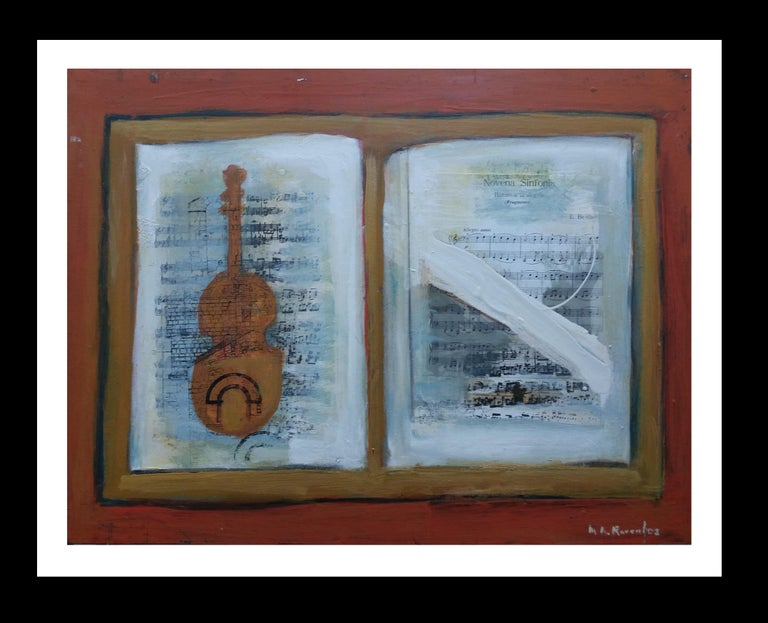 Maria Asuncion Raventos Interior Painting - Music original expressionist acrylic painting