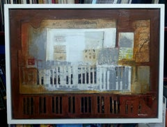 Music Piano - original expressionist acrylic canvas painting