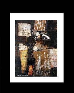 musics original expressionist acrylic  painting 2005