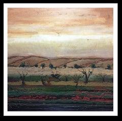 """Paisaje de castilla"" original expressionist acrylic painting"
