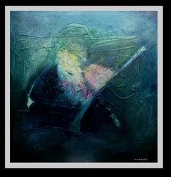 """""""Profundidad marina"""" original abstract mixed media painting"""
