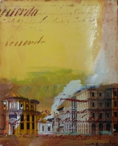 Roma original expressionist acrylic painting
