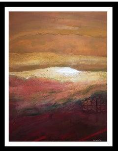 """Sunset"" original abstract acrylic painting"