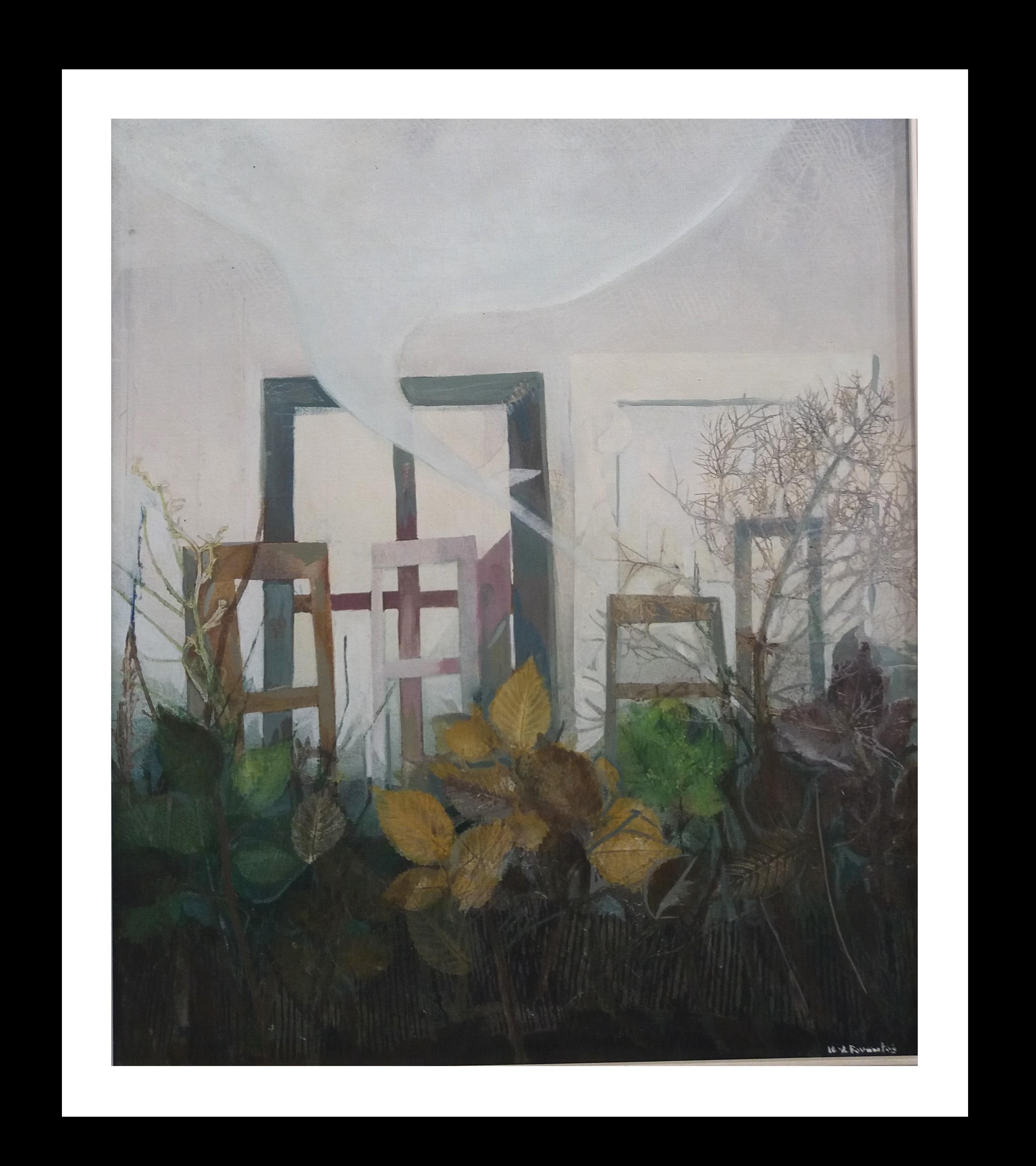 VENTANA original expressionist acrylic painting