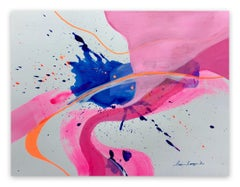 Pink Vortex (Abstract painting)