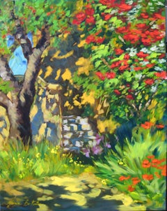 """Casa Quinto"" Impressionist Oil Painting Of Provencal Village by Maria Bertran"