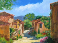Contemporary Impressionist Oil Painting Of Provencal Village by Maria Bertran