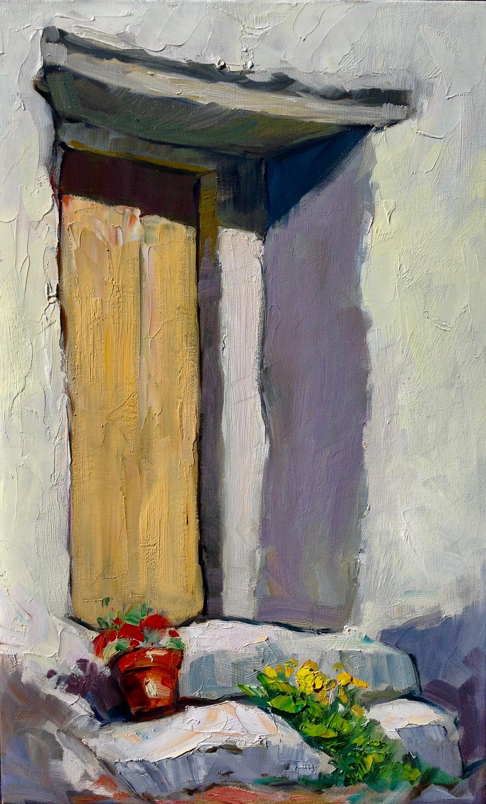 """""""Door In Arenas"""" Contemporary Impressionist Oil Painting of Spain"""
