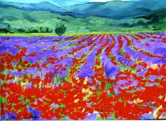 """""""Field of Brilliant Colors"""" Contemporary Impressionist Oil Painting"""