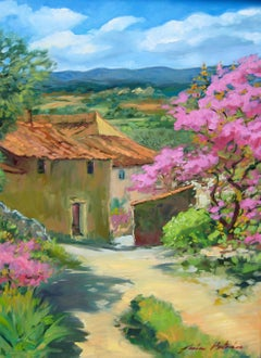 """""""Judea Tree In Les Grand Clements"""" Impressionist Oil Painting by Maria Bertran"""
