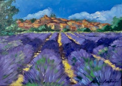 """""""Lavender By Revest Du Bion"""" Contemporary Impressionist Oil Painting In Provence"""