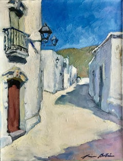 """""""Street In Almeria"""" Contemporary Impressionist Oil Painting of Spain"""