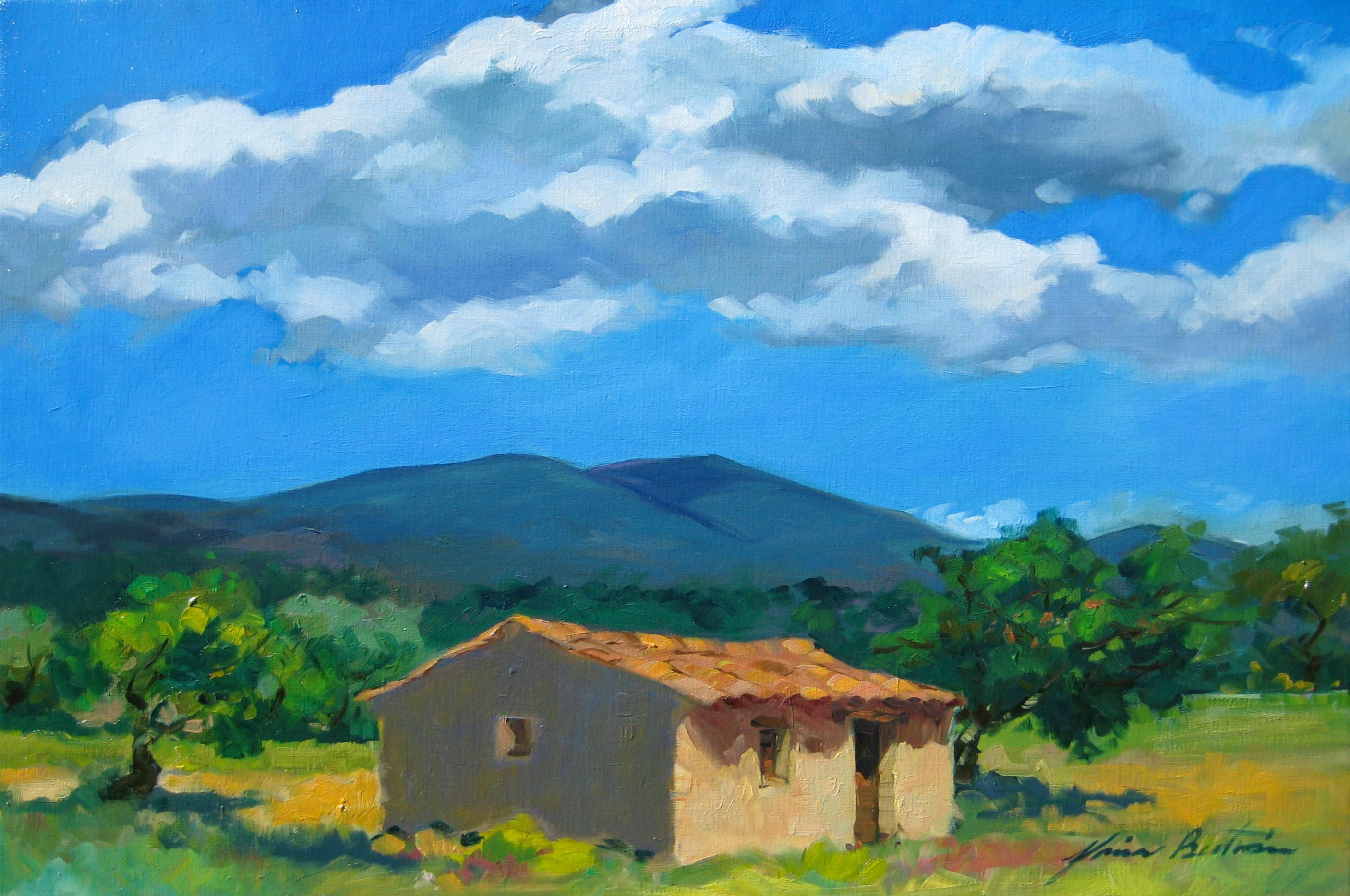 """""""Under The Summer Sky, Provence""""  Impressionist Oil Painting by Maria Bertran"""