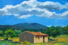 """Under The Summer Sky, Provence""  Impressionist Oil Painting by Maria Bertran"