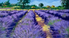 """""""Valensole Lavender"""" Contemporary Impressionist Oil Painting In Provence"""