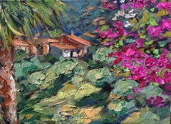 """""""View From The Bungalow"""" Contemporary Impressionist Oil Painting of Spain"""