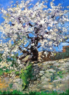 """""""Alley In Gordes""""  Contemporary Impressionist Oil Painting of Provence"""