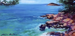 """""""Bandol Coastline""""  Contemporary Impressionist Oil Painting by In Provence"""