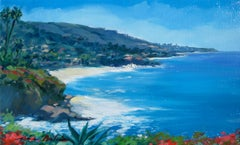 """Clear Winter Day"" Modern Impressionist Laguna Beach Seascape by Maria Bertran"