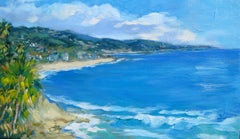 """Clouds Over Main Beach"" Contemporary Impressionist Laguna Beach Seascape"