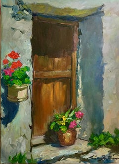 """""""Door In Chisarette"""" Contemporary Impressionist Oil of French Alps"""