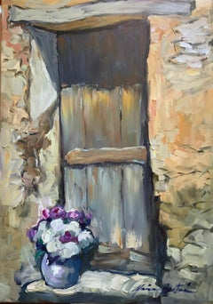 """""""Door In Les Grand Clements"""" Contemporary Impressionist Oil of Provence"""