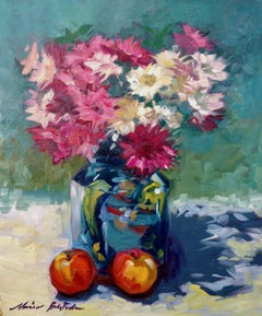"""Flowers of Spring"" Contemporary Impressionist Still Life Oil"