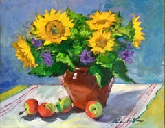 """""""Flowers On The Provencal Table"""" Contemporary Impressionist Still Life"""