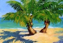 """Isla Morada"" Contemporary Impressionist Oil of Florida Keys"