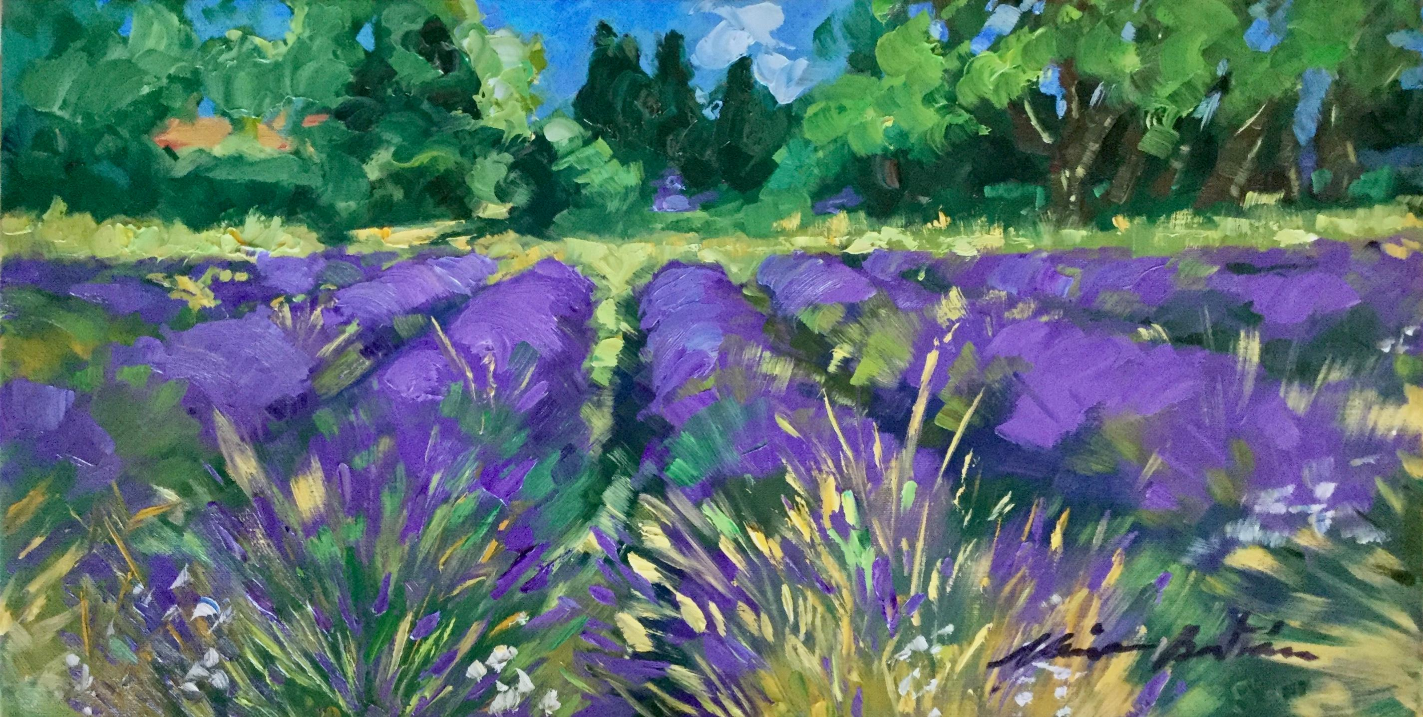 """Lavender In Aurel"" Contemporary Impressionist Oil of Provence"