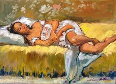 """Maya's Robe"" Contemporary Impressionist Figure Oil Painting"
