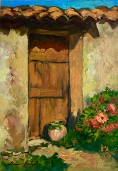 """Old Cabanon, Old Heart"" Contemporary Impressionist Oil of Provence"