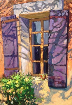 """""""Shadows By Jean's Window""""  Contemporary Impressionist Oil Painting of Provence"""