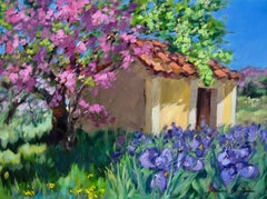 """""""Spring Fantasia""""  Contemporary Impressionist Oil Painting of Provence"""