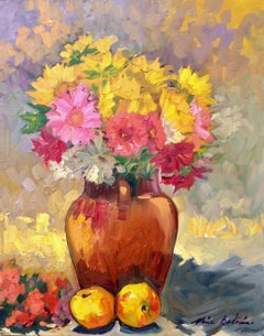 """""""Spring Mixed Floral"""" Contemporary Impressionist Still Life Oil"""