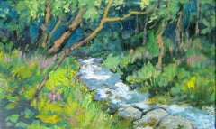 """Stream In The French Alps""  Contemporary Impressionist Oil by Maria Bertran"