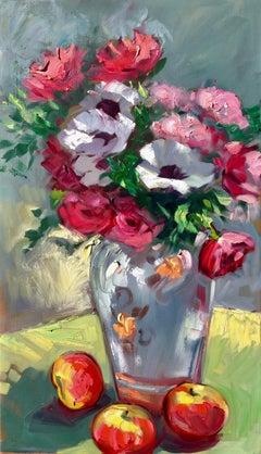 """Vase From Malaga"" Contemporary Impressionist Still Life"