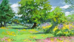 """Winchester Meadows"" Modern Impressionist Painting by Maria Bertran In England"