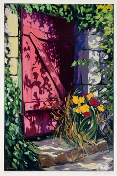 """Doorway To The Garden""  Contemporary Impressionist Serigraph of Provence"