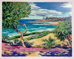 """Laguna Vista"" Contemporary Impressionist Serigraph of Laguna Beach"