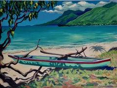 """Moorea""  Contemporary Impressionist Serigraph of Tahiti"
