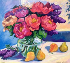 """The Colors of Spring""  Contemporary Impressionist Floral Serigraph"