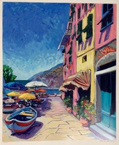 """""""Vernazza  Contemporary Impressionist Serigraph of Cinque Terre, Italy"""